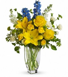 Fresh Yellow Vase from Crestwood Florist, your flower shop in Kansas City