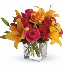 Orange and Pink from Crestwood Florist, your flower shop in Kansas City