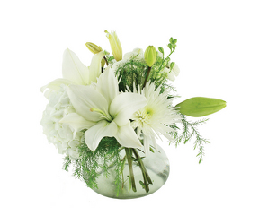 White Lily Bowl from Crestwood Florist, your flower shop in Kansas City