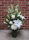 White Vase from Crestwood Flowers, your flower shop in Kansas City