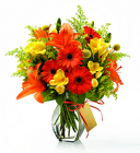 Yellow and Orange Vase from Crestwood Flowers, your flower shop in Kansas City
